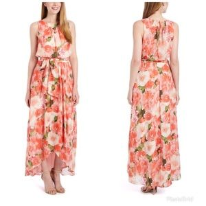 Shelby & Palmer Floral Tie-Waist Maxi Dress